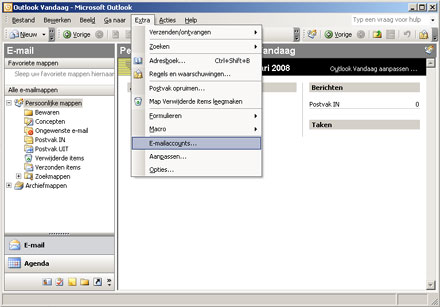 Outlook 2003 - E-mailaccounts